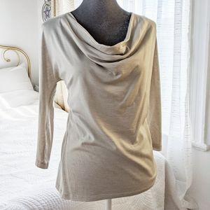 MaxMara silk cotton cowl neck top